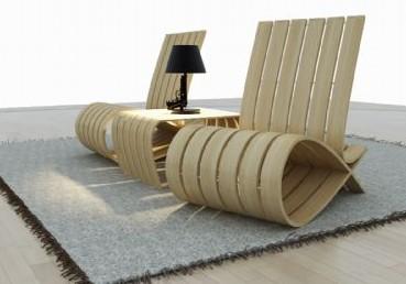 style ultra moderne chaise en bois - Meubles Modernes Bois
