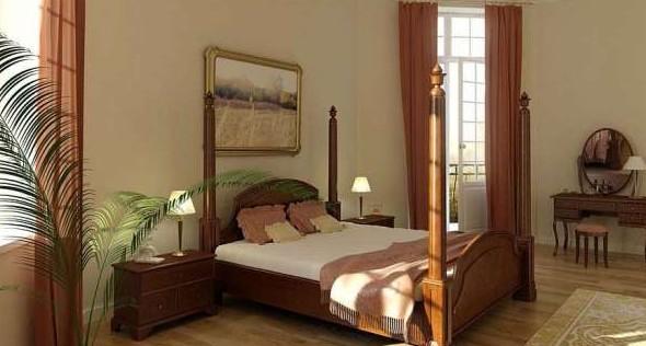 Chambre de style europ en 3d model download free 3d for Chambre a coucher 3d