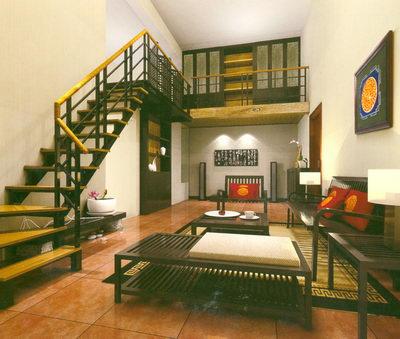 Escalier et salon chinois oriental style 3d model download free 3d models download for Home design interieur