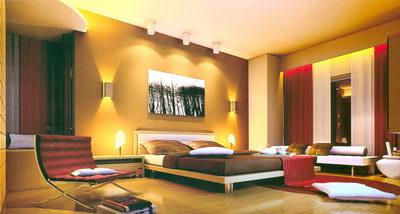 Chambre coucher comprennent l 39 clairage 3d model download free 3d models download for Home design interieur