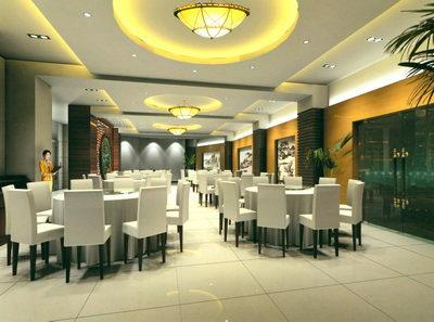 chambre s168166par168166e de taille moyenne dans un restaurant 3d