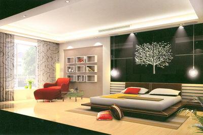 Simplisme bedroom noir et rouge 3d model download free for Photo dinterieur mots croises