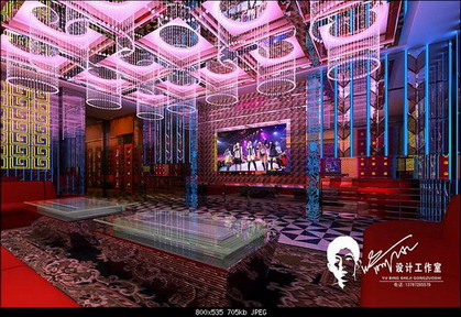 Erosion couleur mod le 3d de la salle de divertissement for Karaoke room design ideas