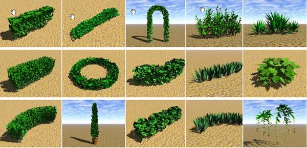 Mod¨¨le 3D D'un Arbuste Contenant