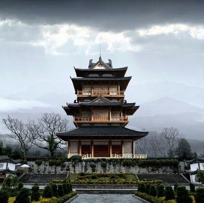 T l chargement gratuit de mod les 3d de l 39 architecture for Architecture chinoise