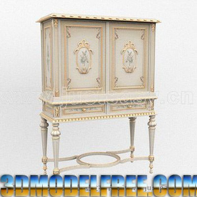 Continental sculpt¨¦ ¨¤ long Cabinet pattes