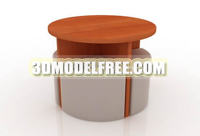 Stylish tables et chaises 3D Model Portfolio