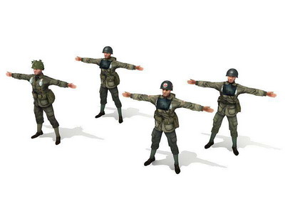 Soldier 3D Model of Allied World War II
