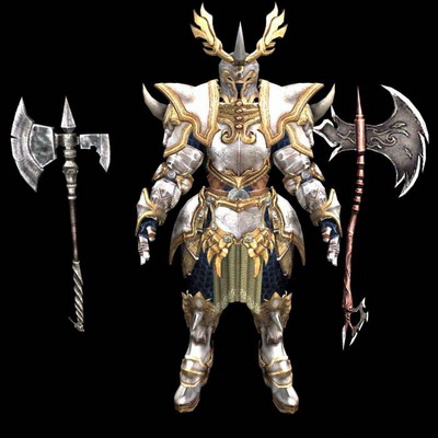 3D Model of Golden Armor