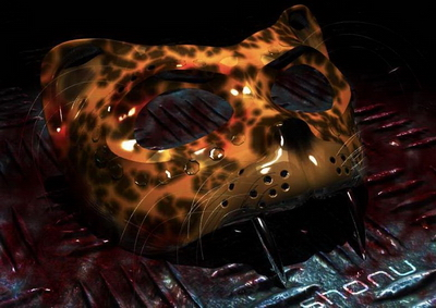 Mod¨¨le 3D de la premi¨¨re make-up Leopard Masque