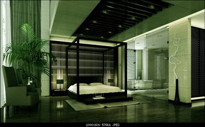 Mod le 3d de style chinois chambre coucher 3d model download free 3d models download - Chambre style anglais moderne ...