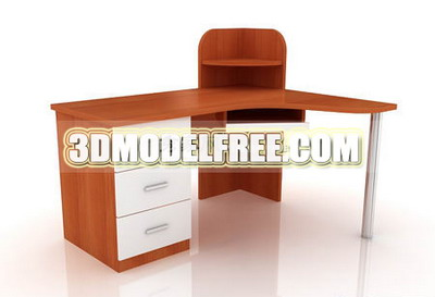 Table en bois Mod¨¨le 3D du Cabinet