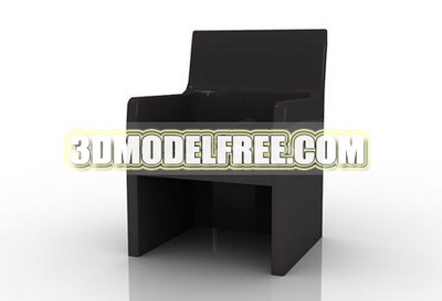 Chaise en bois 3D Model of Personality