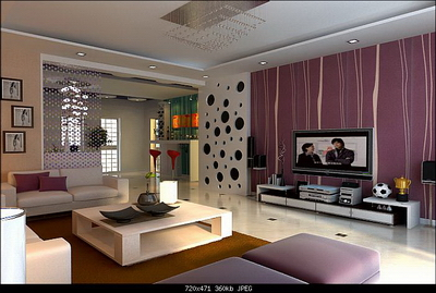 mod le 3d d 39 une chambre moderne de style de vie 3d model. Black Bedroom Furniture Sets. Home Design Ideas