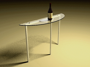 Table en verre Mod¨¨le 3D