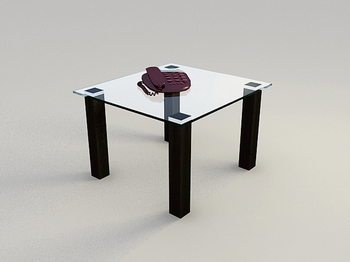 Table basse en verre Mod¨¨le 3D