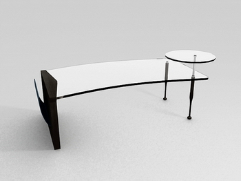Table en verre Mod¨¨le 3D de la Mode