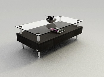Black Glass Table Basse Mod¨¨le 3D