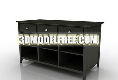 Cash cash register registre tiroir de bureau table en bois for Meuble bureau 3d
