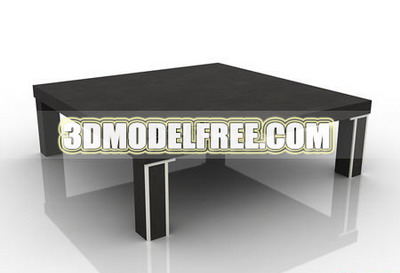 Mod¨¨le 3D de type simple table en bois massif