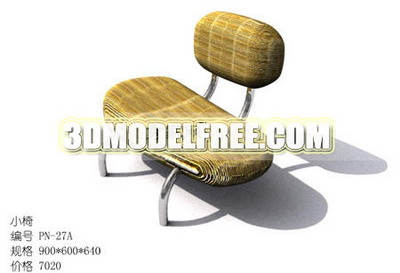 Double-table lit chaise mod¨¨le 3D de rotin tress¨¦
