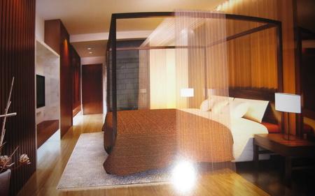 Simple chambre chinoise avec mat riel 3d model download free 3d models download for Chambre simple moderne