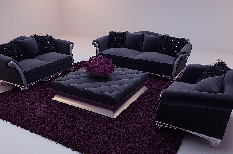 New baroque canap mod le 3d y compris les mat riaux 3d model download f - Modeles de canapes salon ...
