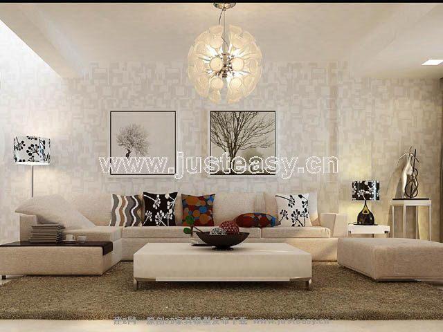 complet de mod le 3d des accessoires canap moderne y. Black Bedroom Furniture Sets. Home Design Ideas