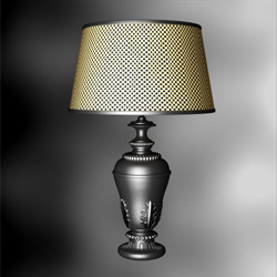Lampe de table rustique mod¨¨le 3D des culots de lampes Lattice