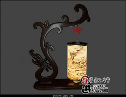 Lampe de table Chinois - Dragon mod¨¨le 3D