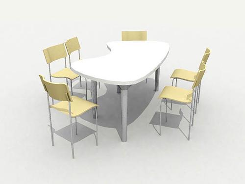 Mod le 3d d 39 une chaleureuse salle manger tables et for Salle a manger 3d