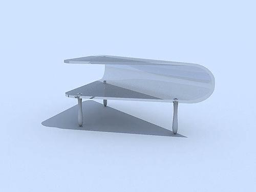 table basse en verre blanc mod le 3d de la mode 3d model download free 3d models download. Black Bedroom Furniture Sets. Home Design Ideas