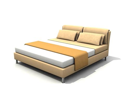 Mod le 3d de meubles modernes lit moderne 3d model download free 3d models download - Lit double moderne ...
