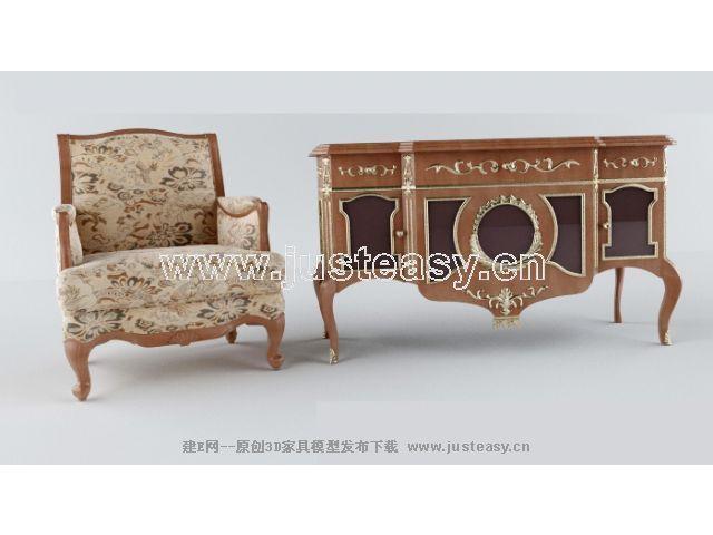 avec meuble de luxe pr¨¦sidents des classiques 3D Model Download ...