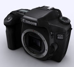 CANON 40D machine carte noire