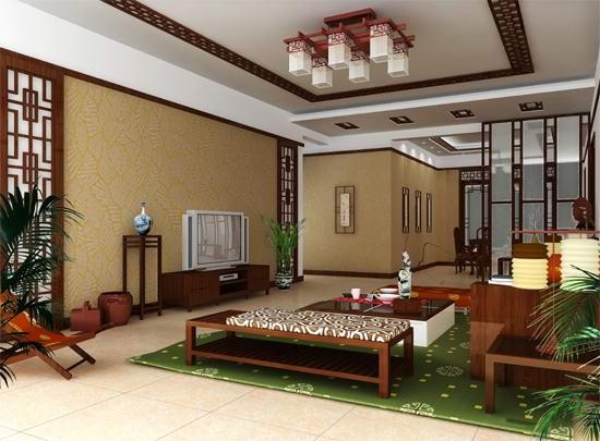 Chambre classique chinoise vivant style 3d model download for Chambre style oriental