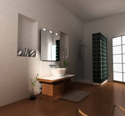 Salle de bain style simple mod le 3d 3d model download for Bathroom design 3d model