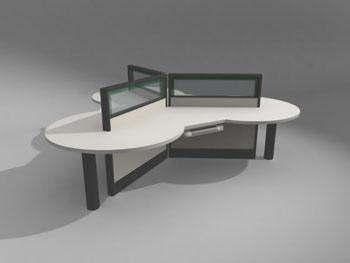 Mod¨¨le d une des tables de bureaux modernes d model download