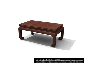 Mod¨¨le 3D de la table de th¨¦ chinois en bois