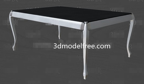 Noir et blanc simple table de th¨¦ de style