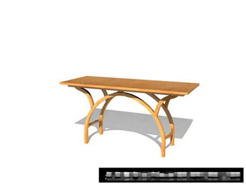 Simple individu tables en bois