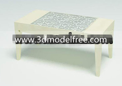 Pur table basse finement sculpt¨¦