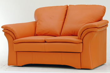 Moderne orange si¨¨ges-lit double