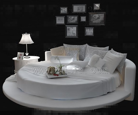 blanc lit rond de mode double personnalit 3d model download free 3d models download. Black Bedroom Furniture Sets. Home Design Ideas
