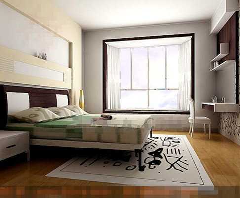 Moderne chambre simple et l gante blanche 3d model download free 3d models download - Chambre simple moderne ...