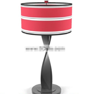 Rouge et blanc Lampe de table de mode ombre