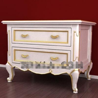 brown garniture blanche meuble tv c t 3d model download free 3d models download. Black Bedroom Furniture Sets. Home Design Ideas