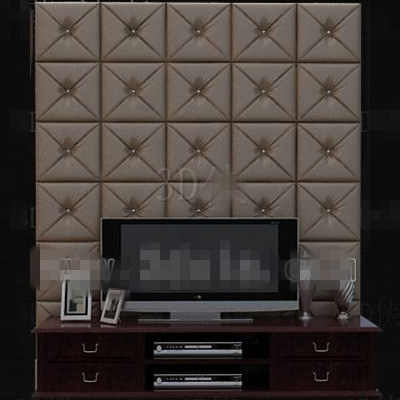Moderne en cuir marron mural TV