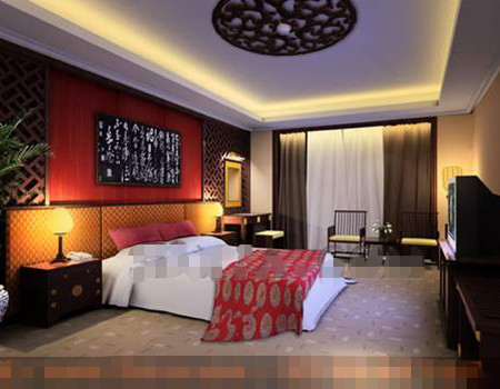 Chinoise de style mur de fond cran pi ces 3d model for Chambre chinoise
