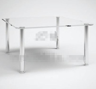 Transparent table th¨¦ en verre rectangulaire